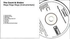 THE COUNT & SINDEN Mega Mega Mega Instrumentals UK 8-trk promo publishing CD