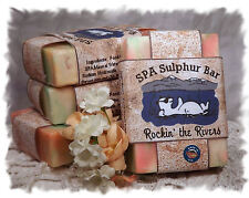 Pachulí Rockin los ríos _ Spa azufre jabones hechos en Montana _ hecho a mano Natural