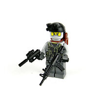 Custom Army Commando Soldier with Gun made with real LEGO® minifigure