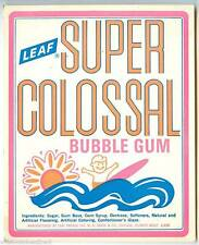 Leaf Super Colossal Bubble Gum Ball Machine Vending Display Card 1970s New