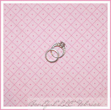 BonEful Fabric FQ Cotton Quilt PINK Dot Baby Girl Calico S Check Gingham Diamond