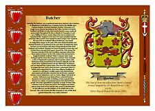 Family coat of arms & Family name meaning A4 (6 designs to choose from)