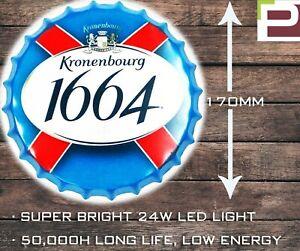 Kronenbourg Beer Bottle Wall Light, WALL MOUNTED LIGHT for Garage, Man Cave, Bar