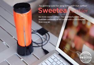 Sweetea USB hot tumbler [USB heating  / Hot plate tumbler / Made in Korea]