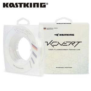 KastKing Kovert 100% Fluorocarbon Fishing Line 50/200Yd 4-50lb Clear Leader line