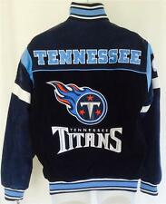 NFL TEAM APPAREL SUEDE LEATHER FOOTBALL JACKET TENNESSEE TITANS SZ SMALL NWT