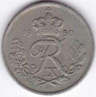 1950 Denmark 25 Ore | Pennies2Pounds