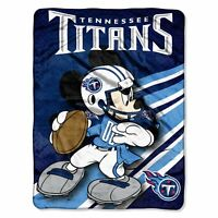 Tennessee Titans NFL 46x60 Mickey Mouse Micro Raschel Plush Throw