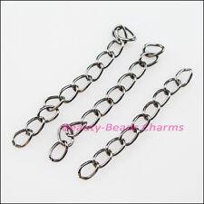 50Pcs Rings Extend Chains Connectors Gunmetal Black Plated 5cm