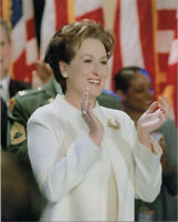 Meryl Streep 8x10 publicity photo in white outfit clapping and smiling
