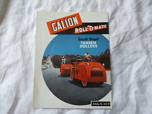 1957 Galion tandem rollers catalog brochure