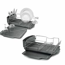 Polder Advantage Dish Drying Rack 4pc S/Steel Cutlery Drainer Drain Tray RRP $80