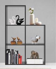 5 Cubes Bookcase Shelving Storage Display Wooden Walnut Shelving Shelf Unit UK