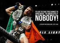 CONOR MCGREGOR QUOTE UFC 205 MMA Wall Art Print Pic Photo Poster A3 A4