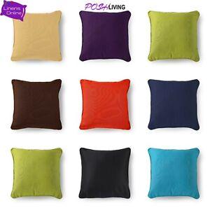 "Colourful Plain Dyed Cushion Covers Polycotton Home Sofa Décor Size 18"" x 18"""