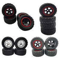 4 Stück Felge mit Reifen 3D-Druck Autoreifen für WPL D12 RC Truck Car Parts
