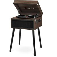 Victrola Bluetooth Record Player Stand with 3-Speed Turntable - Espresso