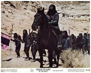 Beneath The Planet of the Apes Original US Lobby Card Gorilla on horse 1970