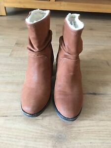 River island Mane ankle Block Heel boots,size 3, Worn Once Label Still On Rrp£50