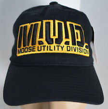 New MUD Moose Utility Division Hat Black Baseball Ball Cap Lid Hunting ATV UTV