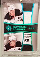 15-16 Ultimate Anaheim Ducks Ryan Getzlaf/Corey Perry Mat Combos TAGS is EPIC!!!