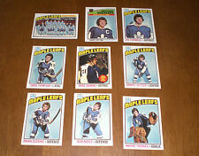 1976 - 77 TORONTO MAPLE LEAFS TOPPS HOCKEY CARD TEAM SET - 9 CARDS