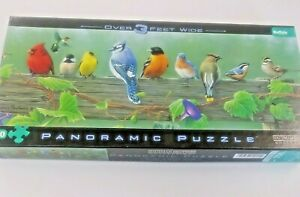 New Unsealed Songbirds Puzzle Hautman Brothers Panoramic 3 Ft Wide 750 Pieces