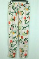 American Eagle Silky Pajama Pants Size Small Floral Print Jogger Slim Style