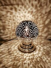 Moroccan spherical night lights Table lamp oriental Lampshade brass silvered