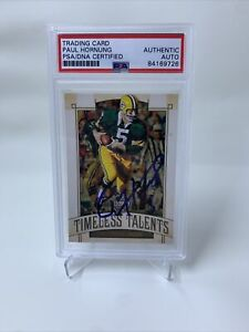 Paul Hornung Signed 2019 Panini Legacy Timeless Talents IP Auto PSA/DNA Packers