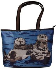 Sea Otters Handbag Tote Bag by Salvador Kitti - Support Wildlife Conservation