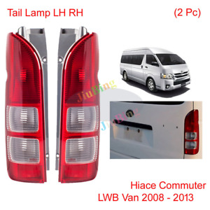 2PCS REAR BRAKE TAIL LIGHT LAMPS  For TOYOTA HIACE COMMUTER LWB VAN 2008-2013