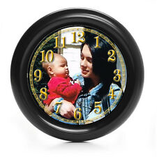 9in  PERSONALISED  PICTURE/PHOTO WALL CLOCK