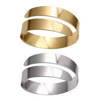 Fashion Punk Spiral Upper Arm Cuff Armlet Armband Bangle Bracelet Jewelry