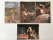 Lot  4  Cartes Postales   LOUIS et AUGUSTE LUMIERE   Postcards