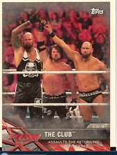 AJ STYLES & THE CLUB 2017 TOPPS WWE ROAD TO WRESTLEMANIA SILVER PARALLEL /25