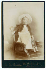 RARE VINTAGE GIRL WITH A VICTORIAN ERA TOY: Young Girl with a Doll Cabinet Card