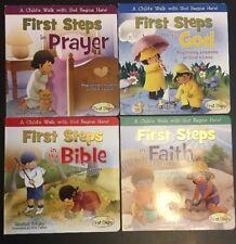 First Steps Books Beginning Lessons God Prayer Faith Bible Set Of 4 ELKINS