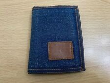 Levi's RARE Bi Fold Denim Wallet - Blue - Used