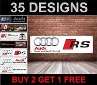 Audi Rs Logo Officina, Garage, Ufficio o Concessionario PVC Banner