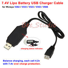 7.4V Lipo Battery USB Charger Cable for Wltoys V666 V353 V262 X600 X101 RC Drone