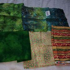 lot fat quarters greens fabric sewing