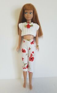 Vintage SKIPPER Doll Clothes Top, floral Capris & Jewelry HM Fashion NO DOLL d4e