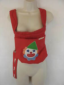 Kangaroo Pocket Infant Baby Carrier Red Clown Collectible Prop Vintage