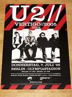 U2 PROMO POSTER - VERTIGO TOUR 2005 BONO BERLIN OLYMPIASTADION ORIGINAL NEU