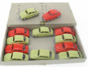 12x EKO - Saab 96 - lindgrün, rot in Händler-OVP, Dealer Box - 1:86 Modellauto