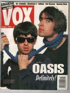 VOX Music Magazine Oasis U2 Echobelly Woodstock 2 October 1994 100620nonr
