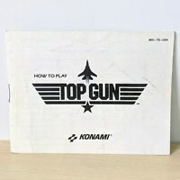 Top Gun Konami NES Nintendo Original Instruction Booklet Manual