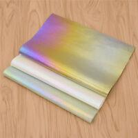 DIY Fabric Bunt Irisierend Stoff Kleider Tasche Dekostoff A4 Handarbeit Tuch Neu