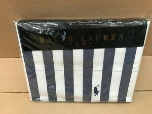 Ralph Lauren Club Stripe 260cm x 220cm Super King / Emperor Duvet Cover Cotton